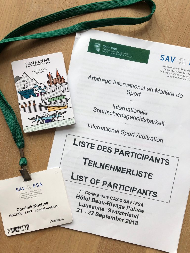 Dr Dominik Kocholl @ TAS_CAS_SAV Conference in Lausanne