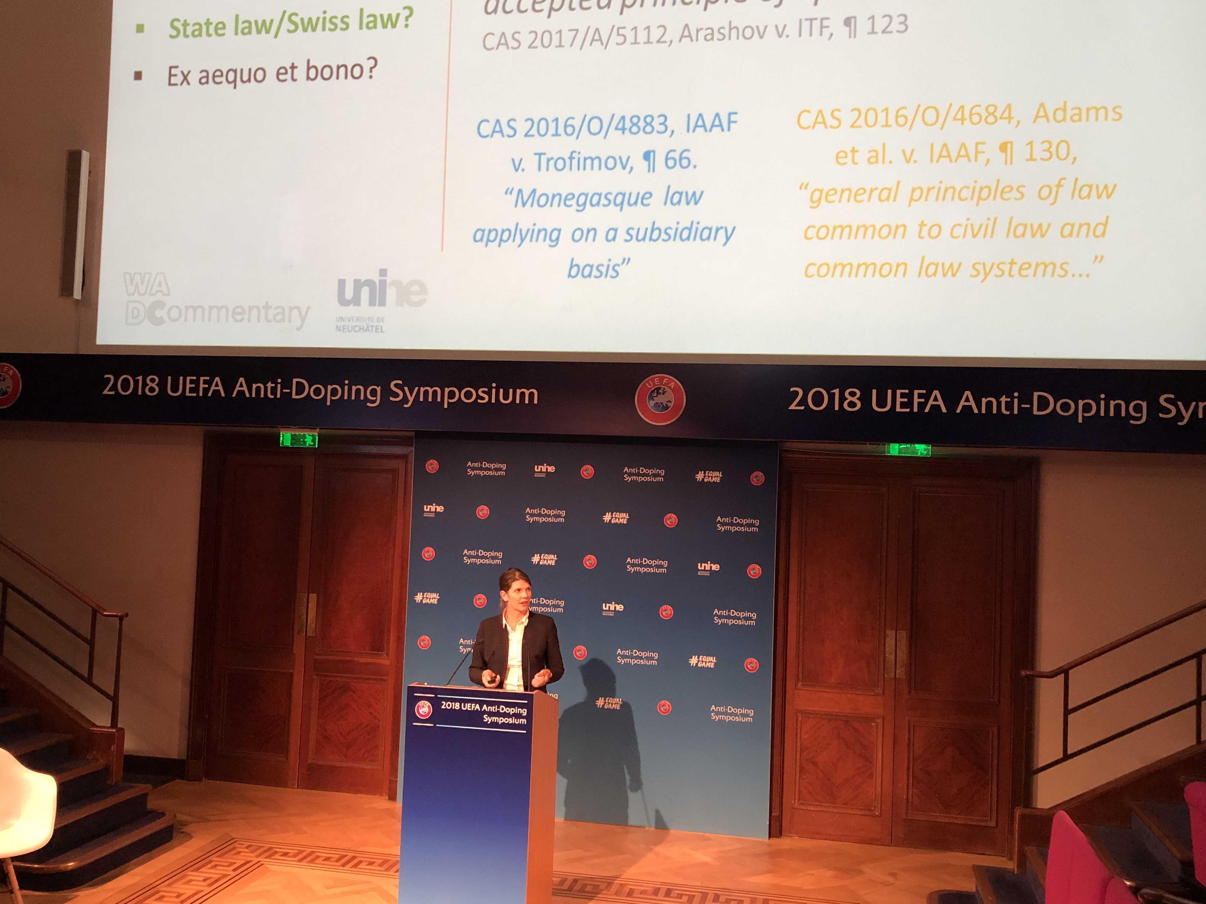 WISNOSKY Emily at UEFA Anti-Doping Symposium 2018 in London